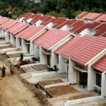 Deretan Rumah di Sebuah Kawasan Perumahan