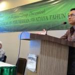 Eko Heripoerwanto saat berikan sambutan di acara Focussed Group Discussion (FGD) Evaluasi Kebijakan Perumahan Swadaya di Kota Gorontalo, Senin (13/10/2014) kemarin.