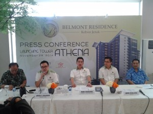Press Conference Launching Tower Athena Belmont Service Residence