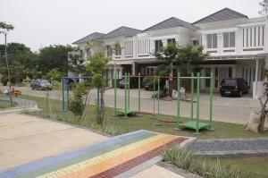 Salah satu sudut kawasan perumahan Casa Jardin