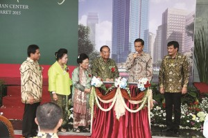 Presiden RI Joko Widodo saat Peresmian Sahid Sudirman Center
