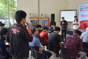 Peserta antusias mengikuti workshop