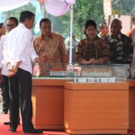 Prosesi Peresmian Program Satu Juta Rumah oleh Presiden Joko Widodo.
