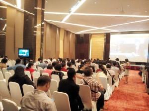 Suasana Pengenalan Kawasan Residensial Terbaru GardenVille di Tangerang, Senin (25/5/2015)