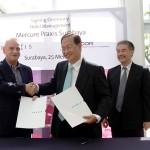 Penandatangan kerjasama antara Intiland Development Tbk, dan Accor Group