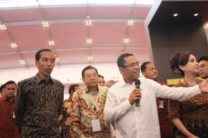 Presiden RI Joko Widodo Meninjau Booth di All Eyes to ICE