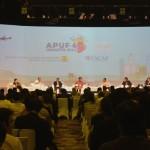 The Sixth Asia-Pacific Urban Forum (APUF 6) di Ballroom Fairmont Hotel, Jakarta, Senin (19/10)