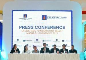 Press Conference Launching Paramount Hills Manado, Rabu 18 November 2015