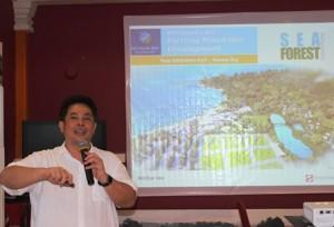 CEO Strategic Development & Services SML, Ishak Chandra memperkenalkan Nuvasa Bay Batam.