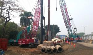 Progres Pembangunan LRT