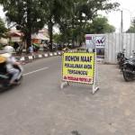 Salah satu titik pembangunan LRT di Palembang (poto : Purwantoro)