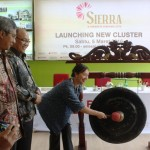 Commissioner Progress Group Derice Sumantri sedang memukul gong diluncurkannya cluster Sierra, Paradise Serpong City