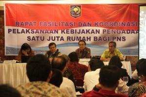 Rapat Fasilitasi dan Koordinasi Pelaksanaan Kebijakan Pengadaan Satu Juta Rumah Bagi PNS