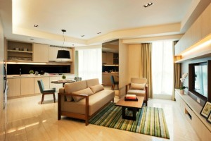 Oasia Suites KL - 1-Bedroom Premier Suite (Living Area)