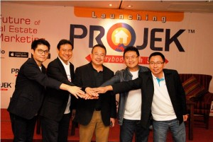 (Kiri – Kanan), Ronny Wuisan, Chief Operating Officer (COO)PROJEK, Philip Purnama, Chief Executive Officer (CEO) PROJEK, Rhenald Kasali, Andy K. Natanael, Investor PROJEK, dan Ali Tranghanda, Director PROJEK