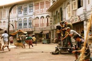Salah sudut lokasi Cina Town di Infinite Studio, Nongsa, Batam saat shooting sebuah film