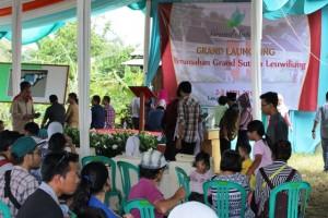 Suasana launching Grand Sutera Leuwiliang Yang Ramai Dengan Calon Konsumen