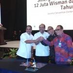 Penandatanganan kerjasama antara Kementerian PUPR dan Bank BTN dalam Rapat Koordinasi Nasional Kepariwisataan
