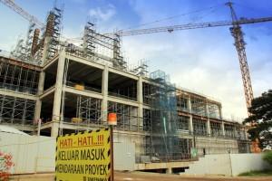 Progress pembangunan AEON Mall JGC
