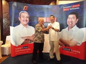 Pasangan Soelaeman Soemawinata dan Totok Lusida, Calon Ketum Dan Sekjen DPP REI 2016-2019