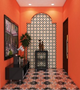Granito Tile motif dan corak Maroko