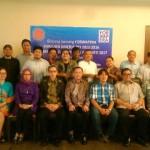 Pengurus DPP REI dan Forwapera usai Media Lunch Evaluasi Kinerja REI