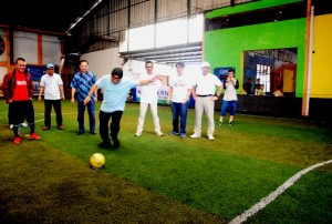 Menteri Pekerjaan Umum dan Perumahan Rakyat Basuki Hadimuljono saat melakukan Kick Off pada Property Cup X tahun 2016