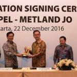 prosesi kerjasama antara Mteland dan Keppel Land terkait proyek di Tangerang.