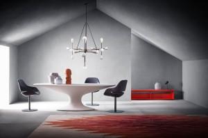 Zanotta menghadirkan desain terbaru dari meja Fenice, yang pada tahun 1936 dibuat oleh desainer Piero Bottoni untuk Villa Muggia.