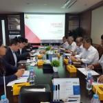 Mr Nong Piseth, dari Kementerian Perekonomian dan Keuangan Kamboja saat berkunjung ke Kementerian PUPR