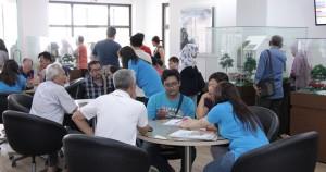 Suasana peluncuran cluster Feia dipenuhi calon konsumen.