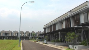 Salah satu cluster di Jakarta Garden City.
