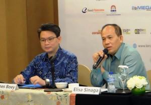 Ketua Umum Asosiasi Aneka Keramik Indonesia (ASAKI), Elisa Sinaga saat press conference Keramika 2017
