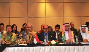 Ketua Umum DPP Realestat Indonesia (REI) Soelaeman Soemawinata saat menjelaskan potensi properti di Indonesia