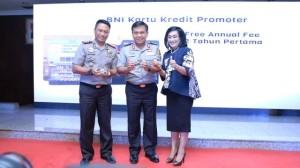 BNI dan Polri melakukan kerjasama penerbitan co branding Kartu BNI Polri Promoter.