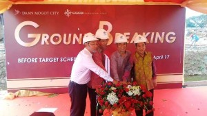 Prosesi groundbreaking Daan Mogot City, Sabtu (22/4/2017)