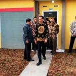 Presiden RI Joko Widodo usai meninjau salah satu unit rumah di Villa Kencana Cikarang yang dikembangkan SPS Group