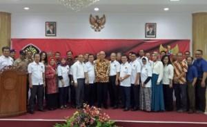Pengurus KAUP 2017-2019 dan Rektor Universitas Pancasila usai dilantik