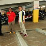 fasilitas parkir kendaraan roda dua semi basement