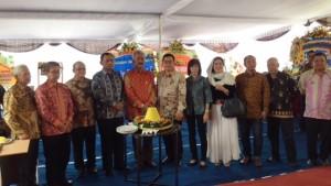 Direksi dan management saat Groundbreaking Sindunegaren Palace, Sabtu, (19/8)