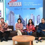 President Director Synthesis Development Budi Yanto Lusli saat press conference Indonesia Is Me 2017