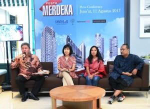 President Director Synthesis Development Budi Yanto Lusli saat press conference Indonesia Is Me 2017