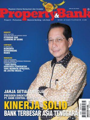 Salah satu Cover Edisi 143 Majalah Property&Bank yang tampil dual cover