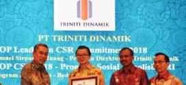 Aktif Giatkan Program Sosial, Triniti Dinamik Raih Trophy Di TOP CSR 2018