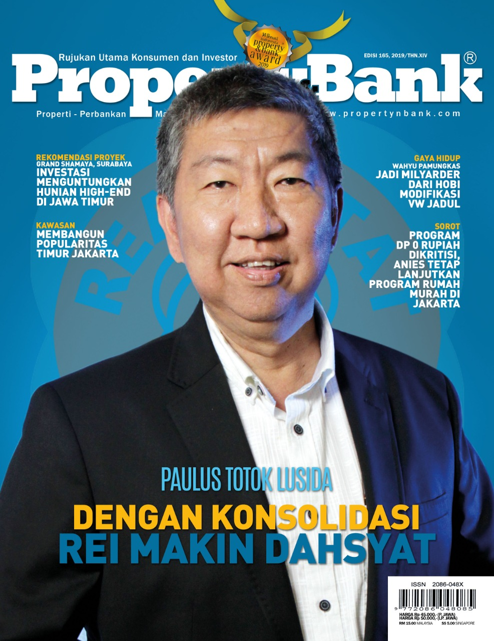 Cover Majalah Property&Bank edisi 165