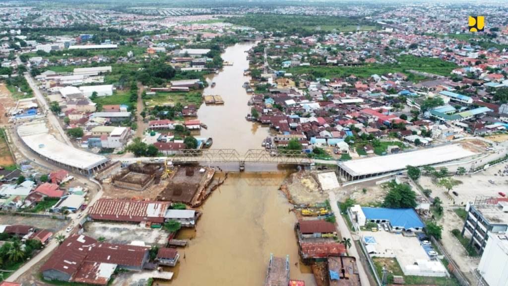 Jembatan Sei Alalak di Banjarmasin, Provinsi Kalimantan Selatan