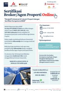 Sertifikasi Kompetensi Agen Properti Online - LSP AREA Indonesia