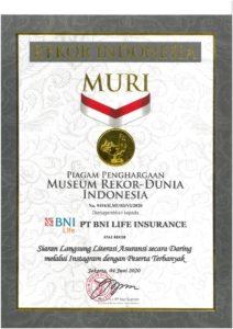BNI Life Raih Rekor MURI Untuk Literasi Asuransi